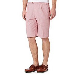 Maine New England - Big and tall terracotta striped chino shorts