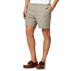 Maine New England - Light olive twill shorts