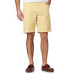 Maine New England - Big and tall yellow washed chino shorts