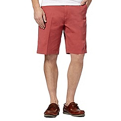 Maine New England - Big and tall terracotta washed chino shorts