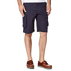 Maine New England - Big and tall navy linen blend cargo shorts