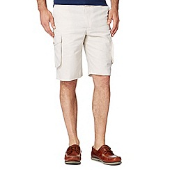 Maine New England - Big and tall natural linen blend cargo shorts