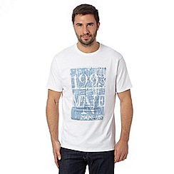Maine New England - White boat print t-shirt