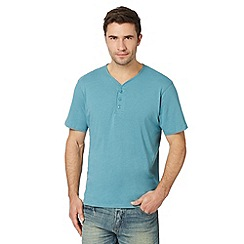 Maine New England - Turquoise plain henley t-shirt