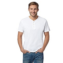 Maine New England - White plain henley t-shirt