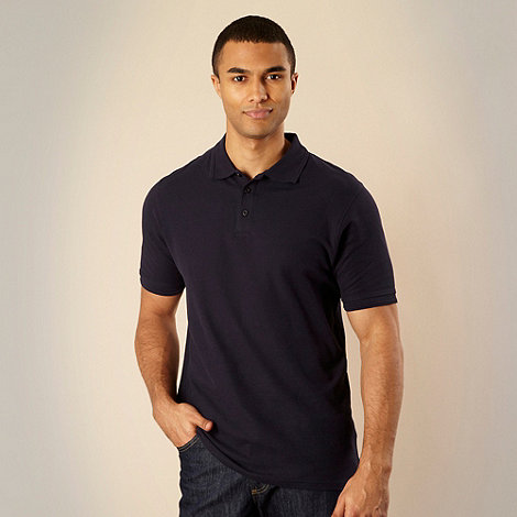 Maine New England - Big and tall navy classic polo shirt