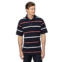 Maine New England - Big and tall red cuba stripe polo shirt