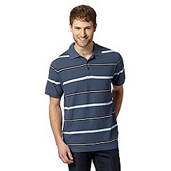 Maine New England - Blue striped polo shirt