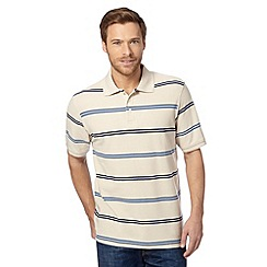 Maine New England - Big and tall natural striped cuba striped polo shirt