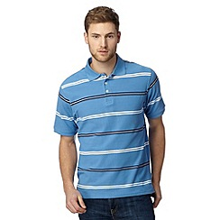 Maine New England - Big and tall pale blue cuba stripe polo shirt