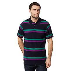 Maine New England - Big and tall navy twin striped polo shirt