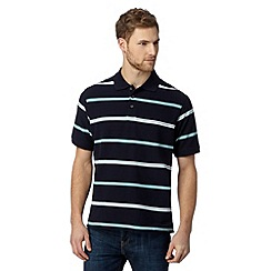 Maine New England - Big and tall navy cuba stripe polo shirt