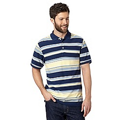 Maine New England - Big and tall yellow striped polo shirt
