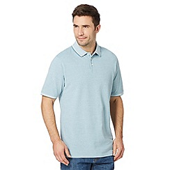 Maine New England - Big and tall green plain tipped collar pique polo shirt
