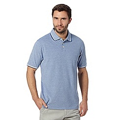 Maine New England - Dark blue tipped pique polo shirt