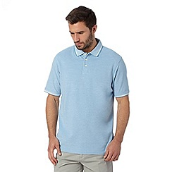 Maine New England - Pale blue tipped pique polo shirt