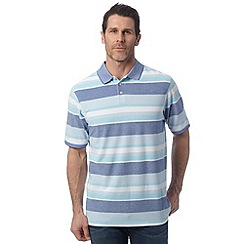 Maine New England - Turquoise striped chicago polo shirt