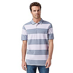 Maine New England - Lilac block striped polo shirt