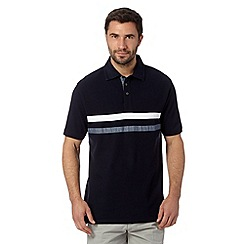 Maine New England - Navy applique stripe polo shirt
