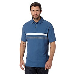 Maine New England - Blue chest stripe polo shirt