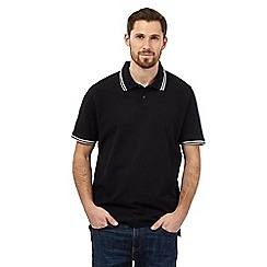 Maine New England - Black tipped collar pique polo shirt