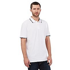 Maine New England - Big and tall white tipped collar pique polo shirt