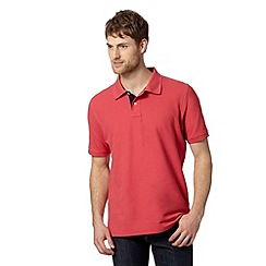 Maine New England - Peach contrast placket polo top