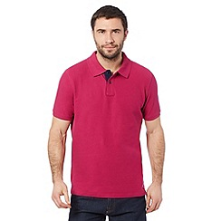 Maine New England - Dark pink pique polo shirt