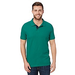 Maine New England - Green contrast placket polo shirt