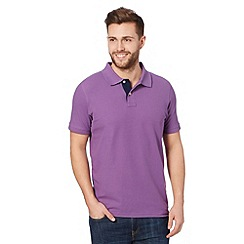 Maine New England - Purple contrast placket polo shirt