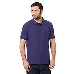 Maine New England - Dark purple pique polo shirt
