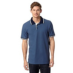 Maine New England - Dark blue contrast collar polo shirt