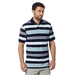 Maine New England - Navy striped short sleeved polo shirt