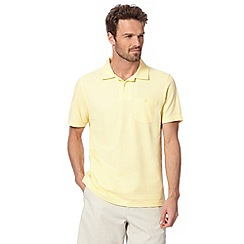 Maine New England - Pale yellow plain polo shirt