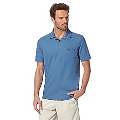 Maine New England - Blue plain polo shirt