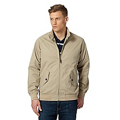 Maine New England - Big and tall beige lightweight harrington jacket