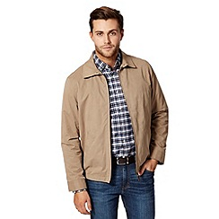 Maine New England - Big and tall beige classic harrington jacket