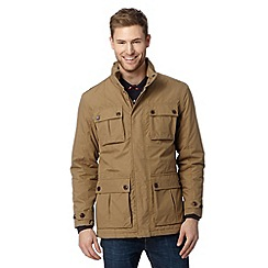 Maine New England - Taupe shower resistant four pocket jacket
