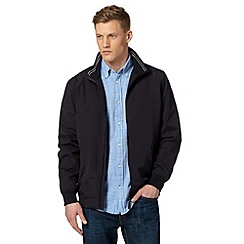 Maine New England - Big and tall navy zip through jacket