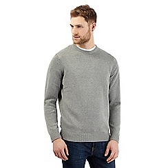 Maine New England - Big and tall light grey crew neck jumper