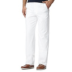 Maine New England - White cotton linen trousers