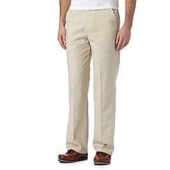 Maine New England - Big and tall natural linen trousers