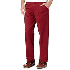 Maine New England - Dark red straight leg chinos