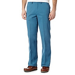 Maine New England - Big and tall mid blue straight leg flex waist chinos