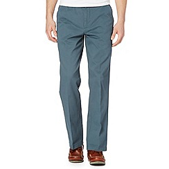 Maine New England - Big and tall dark turquoise flat front chinos