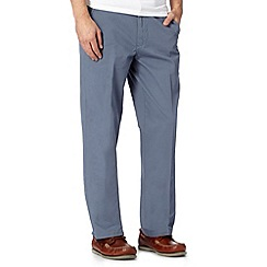 Maine New England - Big and tall blue straight leg chinos