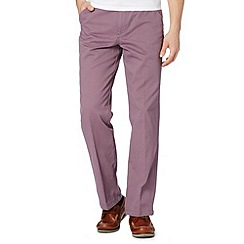 Maine New England - Big and tall mauve flat front chinos