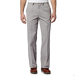 Maine New England - Big and tall pale grey straight leg flex waist chinos