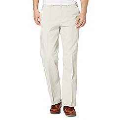 Maine New England - Big and tall off white flat front chinos