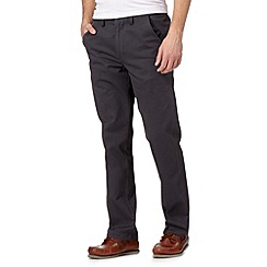 Maine New England - Big and tall dark grey tailored chinos